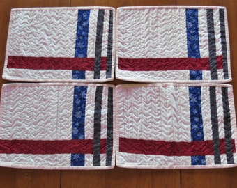 Quilted Place mats - Snack Mats - Set of 4