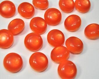 Vintage Iridescent Orange Buttons /54