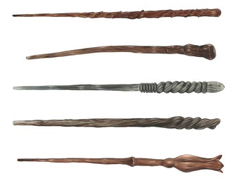 Harry potter wand etsy uk for Wand designs