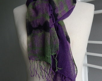 Two colours silk set, violet n green, 24
