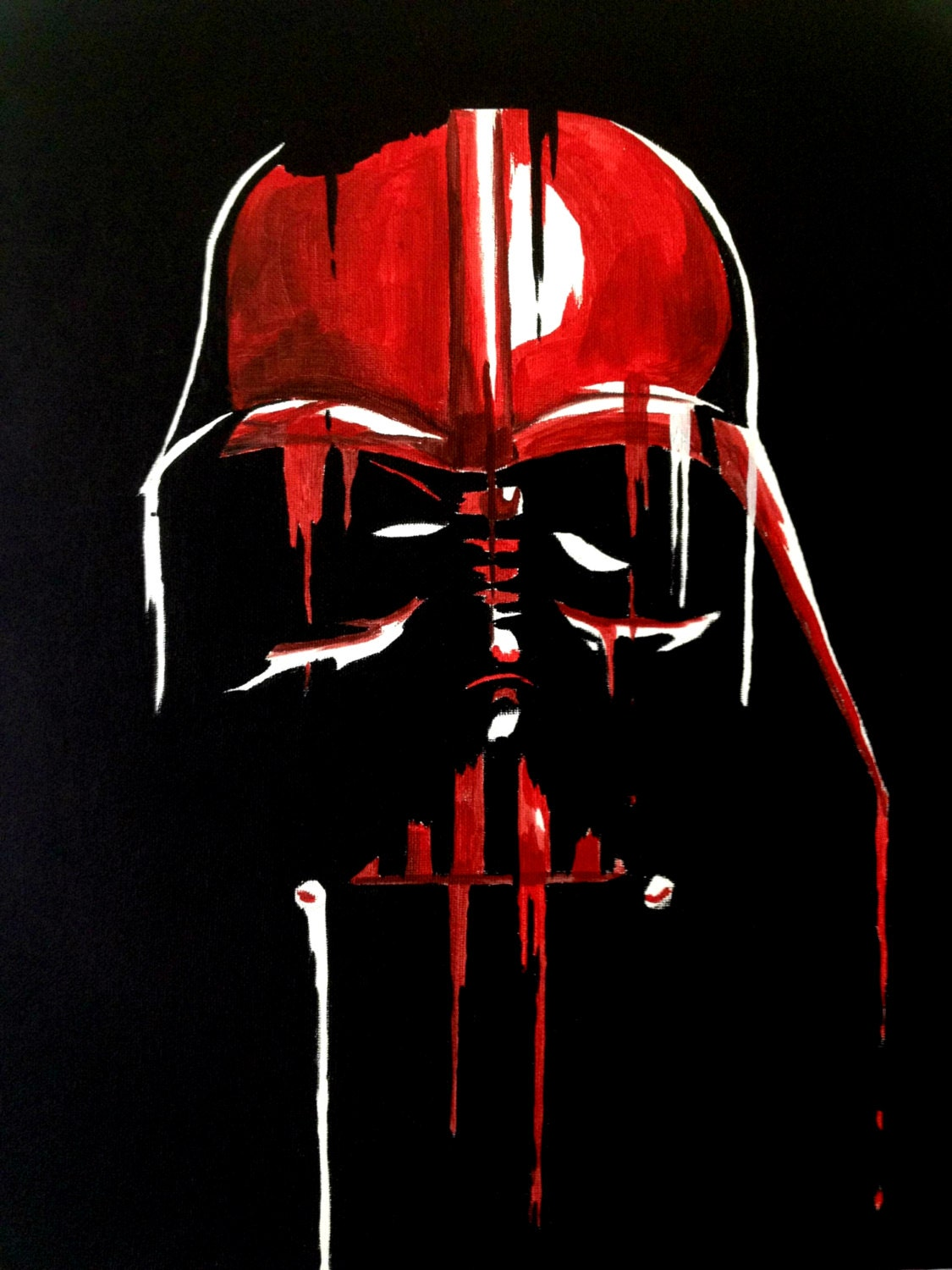 Spray Painted Canvas Star Wars