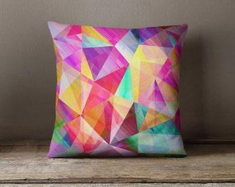 Geometric Pillow | Purple Pillow | Abstract Pillow Cases | Purple Geometric Pillow | Colorful Pillow | Pink Pillow | Abstract Pillow