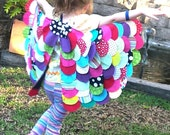 Multicolored BUTTERFLY wings, Girls dress ups, Girls costume, Handmade fabric upcycled dress up wings