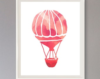 EXTRA 50% OFF Multiple Purchases Downloadable Print Hot Air Balloon red