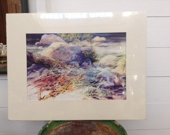 """Print by De Loyht - Arendt NWS - entitled """"River Rock"""""""