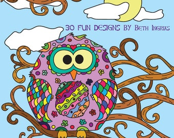 Adult Coloring Books: Owls 30 Designs Adult Colouring Book
