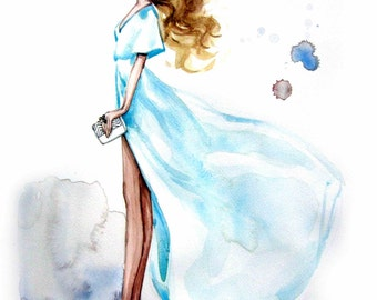 Fashion Illustration Print. Olivia.b