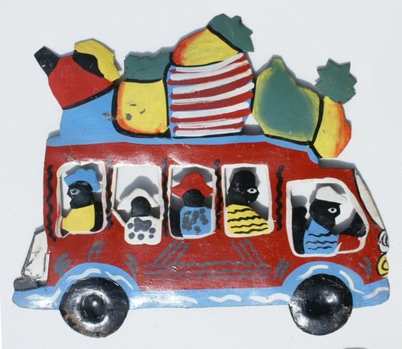 Haitian Tip Tap Colored Colorful Car Bus Haiti By
