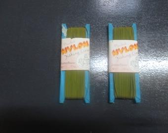 2  linked packs of vintage plaited fish line
