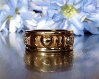 I Love You Diamond Ring / Anniversary / Wife / Girlfriend / Birthday / Linked Ring / Transcend Fine Jewellery - SKU #  VRLYD-018