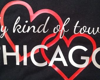 Chicago My Kind Of Town Women's Graphic Tee S,M,L,XL  Free Ship within US