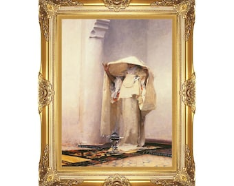 Smoke of Ambergris John Singer Sargent Fumee d'Ambre Gris Framed Art Print Canvas Painting Reproduction - Sizes Small to Large - M00386