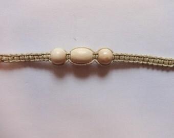 Large Bead Macrame Handmade Bracelet
