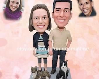 Best Friend Bobblehead dolls, Best friend gift,   friendship doll, Best friend doll, custom doll,   Bridesmaid, Maid of Honor