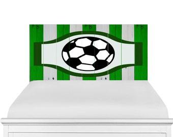 Wooden Headboard Soccer Design
