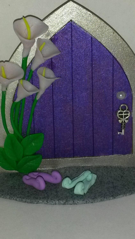 Purple fairy door fairy door gnome door middle earth for Purple fairy door
