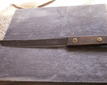 "12"" Rustic Hand Made Knife Made from Old Saw blade Oak Handle"