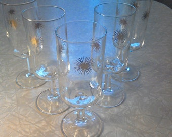 STARBURST-tastic stemware! Set of Five
