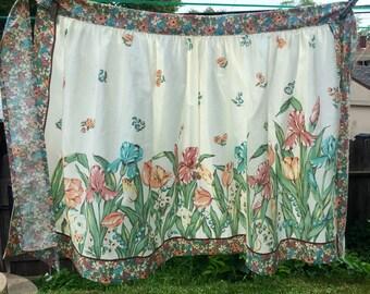 Vintage spring floral half apron Mothers Day Gift