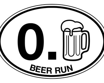 Beer Run Sticker Decal, Car / Truck / Camper Bumper, Cooler and Bar Decoration, Gift For Man or Woman, Weather / Water Resistant Brew Fun