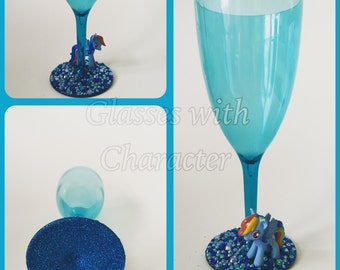 My little pony rainbow dash character plastic glass