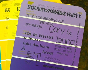 Housewarming Party Invitations - Paint Chips