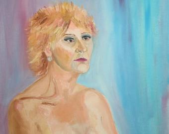 Contemporary woman portrait oil painting