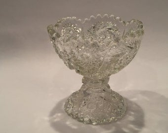 Vintage Lead Crystal Cut Glass Bowl From 1960's