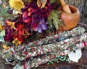 Black Sage Mugwort Smudging Pagan Made