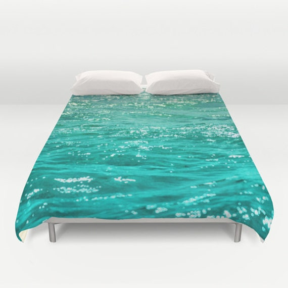 Ocean bedding duvet cover waves beach bedding ocean by besoins for Covers from the ocean