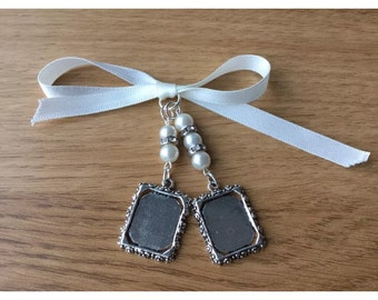 Bridal Bouquet Double Photo Frame Memory Charm Wedding Handmade