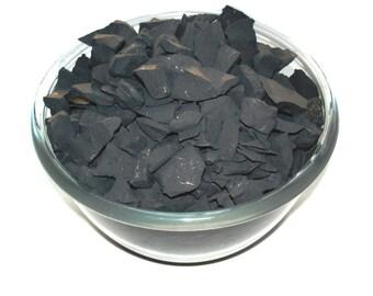 Shungite for water purification 400 grams, detoxification stone, fullerene water SW04