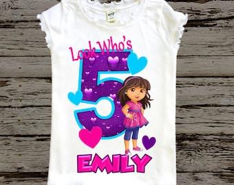 Dora Birthday Shirt - Dora and Friends Shirt