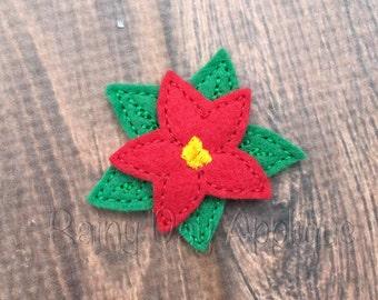 ITH Poinsettia Feltie, Poinsettia Clippie, Christmas Feltie, Christmas Flower, Christmas Clippie, Christmas Design, Poinsetta Feltie