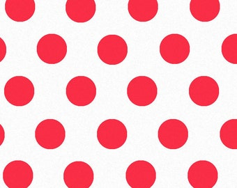 """Red Polka Dot Print Tissue Paper 240 sheets 100% Recycled 20"""" x 30"""" Packaging Gift Wrap"""