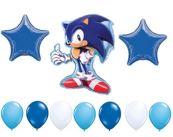 Sega Sonic the Hedgehog Birthday Balloons, Sonic Birthday Supplies, Sonic Party Decorations, Sonic Hedgehog Mylar Balloons