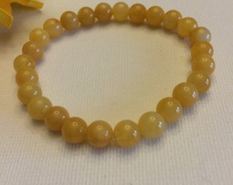 Quartzite 6mm beaded bracelet