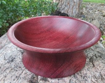 On Sale! Purpleheart Bowl - Exotic Hand Turned Wooden Bowl