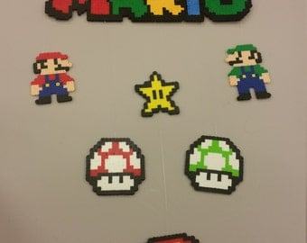 Super Mario Brothers perler bead Mobile