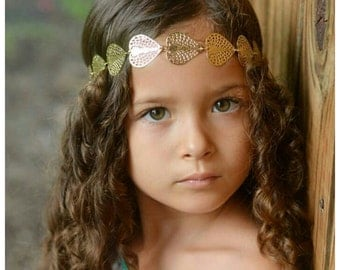 Free Shipping Gold Leaf Headband