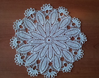 Crochet Round Doily White centerpiece Home decor Table decor snowflake Made in Lithuania