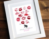 Personalised / Customised Vintage Hen Party / Batchelorette Print - Printable Prince Frog Lipstick Print / Thumbprint Guest Book