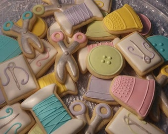 Sewing Themed Cookies (available in all colors)