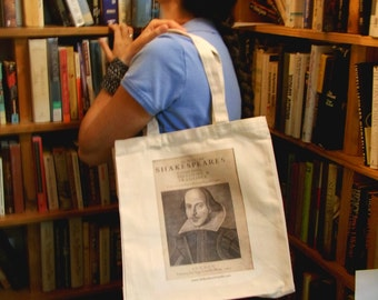 Quote Tote: Shakespeare First Folio Literary BookTote Bag