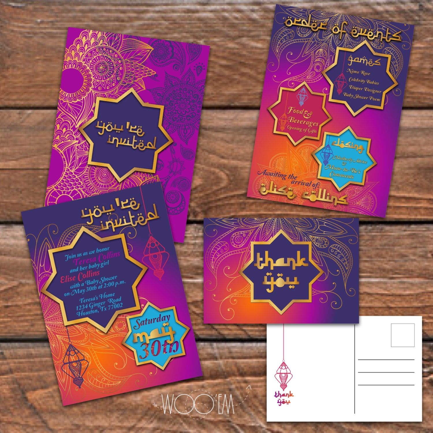 moroccan themed baby shower printable set diy arabian inspired