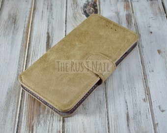 FREE SHIPPING - Tan iPhone 6s Wallet Case - Leather