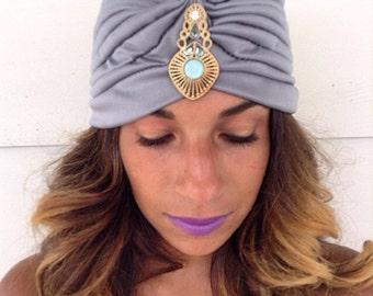 Indian Summer Goddess Full Moon Charged Crown Chakra Turban/Jewl/Jem/Indian/Persian/Bollywood/Turban/Headpiece