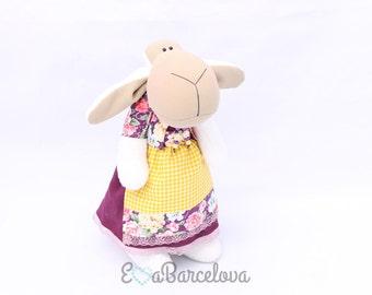 Sheep Molly, stuffed animal, handmade