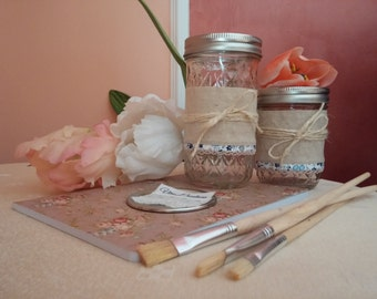 Decorative jars---> BALL MASON JAR