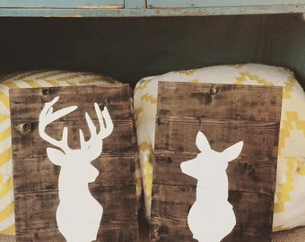 Buck/Doe Silhouette Wall Decor